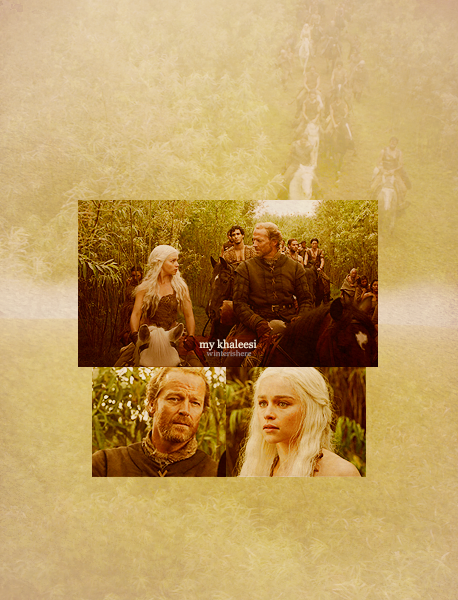 winterishere:  My Khaleesi  - Daenerys & Jorah - Game of Thrones 1.03
