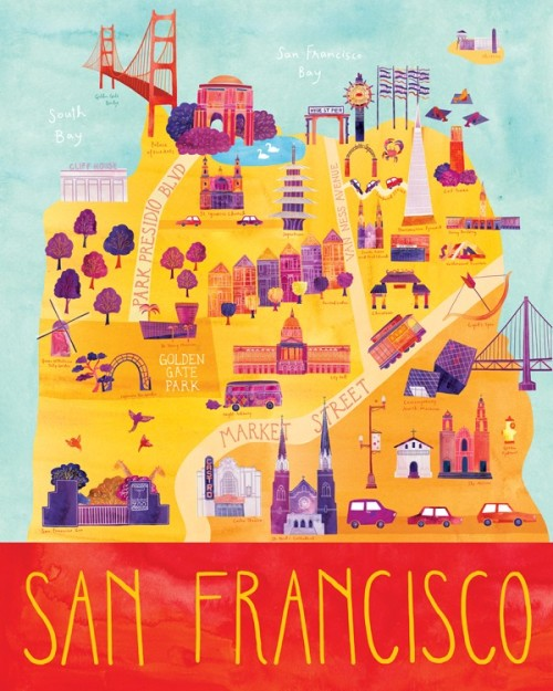 vitainterzapersona:  Marisa Midori  Illustrated San Francisco Map
