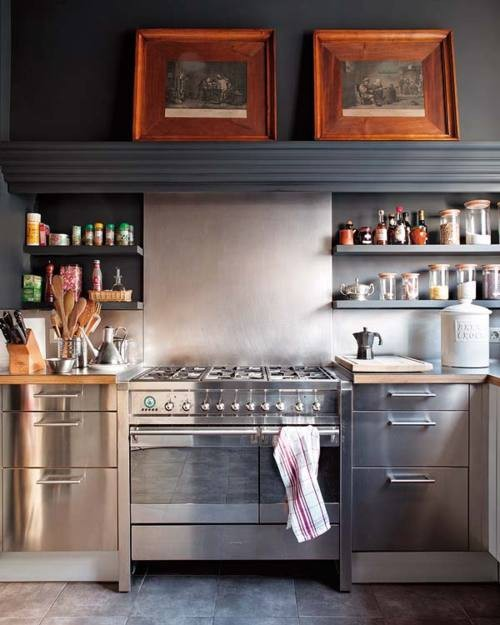 myidealhome:  industrial kitchen   I very much like this.  Yes, please.
