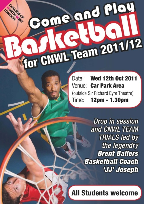 Get involved in Basketball at CNWL!