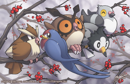 zimmay:  Fat bird type. Hoothoot ate the berries.  My favorite type of pokemon, hands down.
