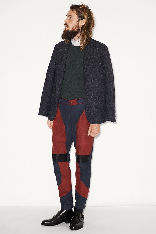 varonjournal:  My Monday Look, Adam Kimmel f/w 2011-12 -Post by Hugo Lavín  Do your pants ever have a manic day?