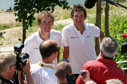 Andy and Fränk. Tour de France 2011.
