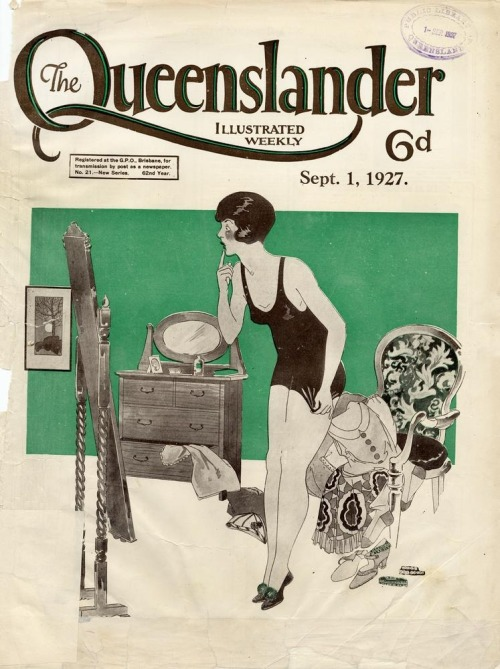 Illustrated front cover from The Queenslander, September 1, 1927  Lance Bressow  (from State Library of Queensland's Flickr)