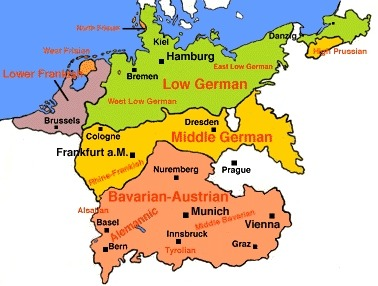 castelnou:  the languages of germany