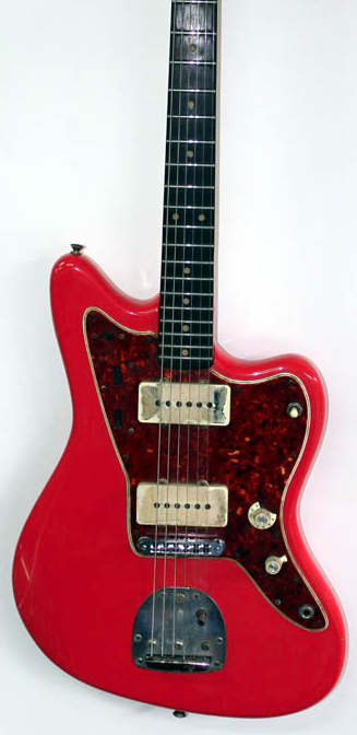 "Fender Jazzmaster L-series 1963-1965 Pre-CBS Guitars produced by Fender between 1963 and early 1965 had a serial number starting with the letter L. These are known as the ""L-Series"" and are highly sought after. Pictured is a 1963 Jazzmaster L-Serie in Fiest Red."
