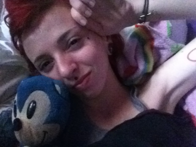 Yeah, I'm 21 and I still sleep with a sonic and hello kitty blanket, but idgaf,  because I don't have school today, so I'm gonna go hangout with my grandma. <3
