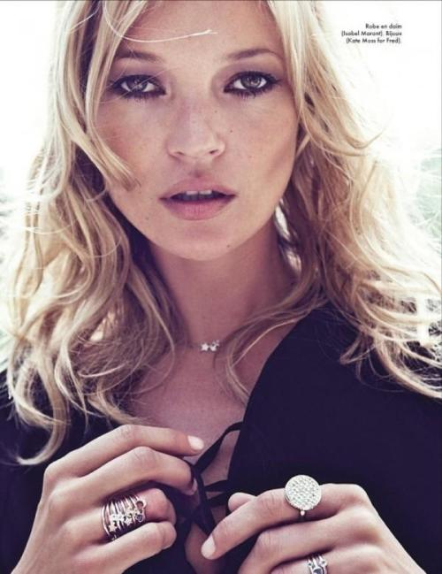 Kate Moss shot by Sonia Sieff Elle France - Oct '11