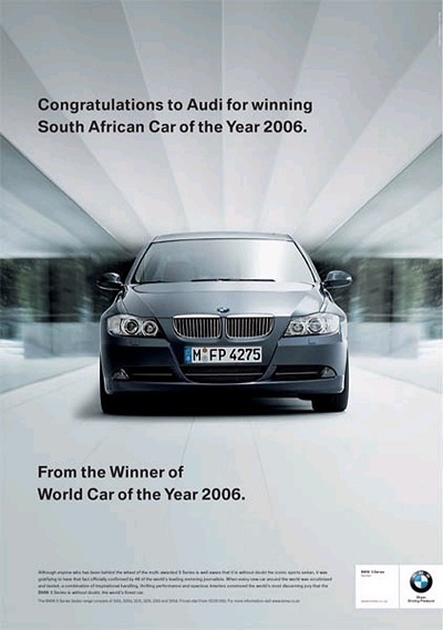 Congratulations to Audi from BMW
