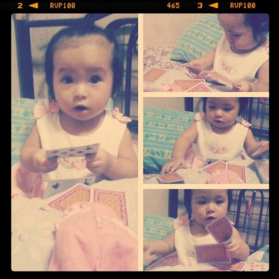 Caught in the act! :) #littleSophia  (Taken with instagram)