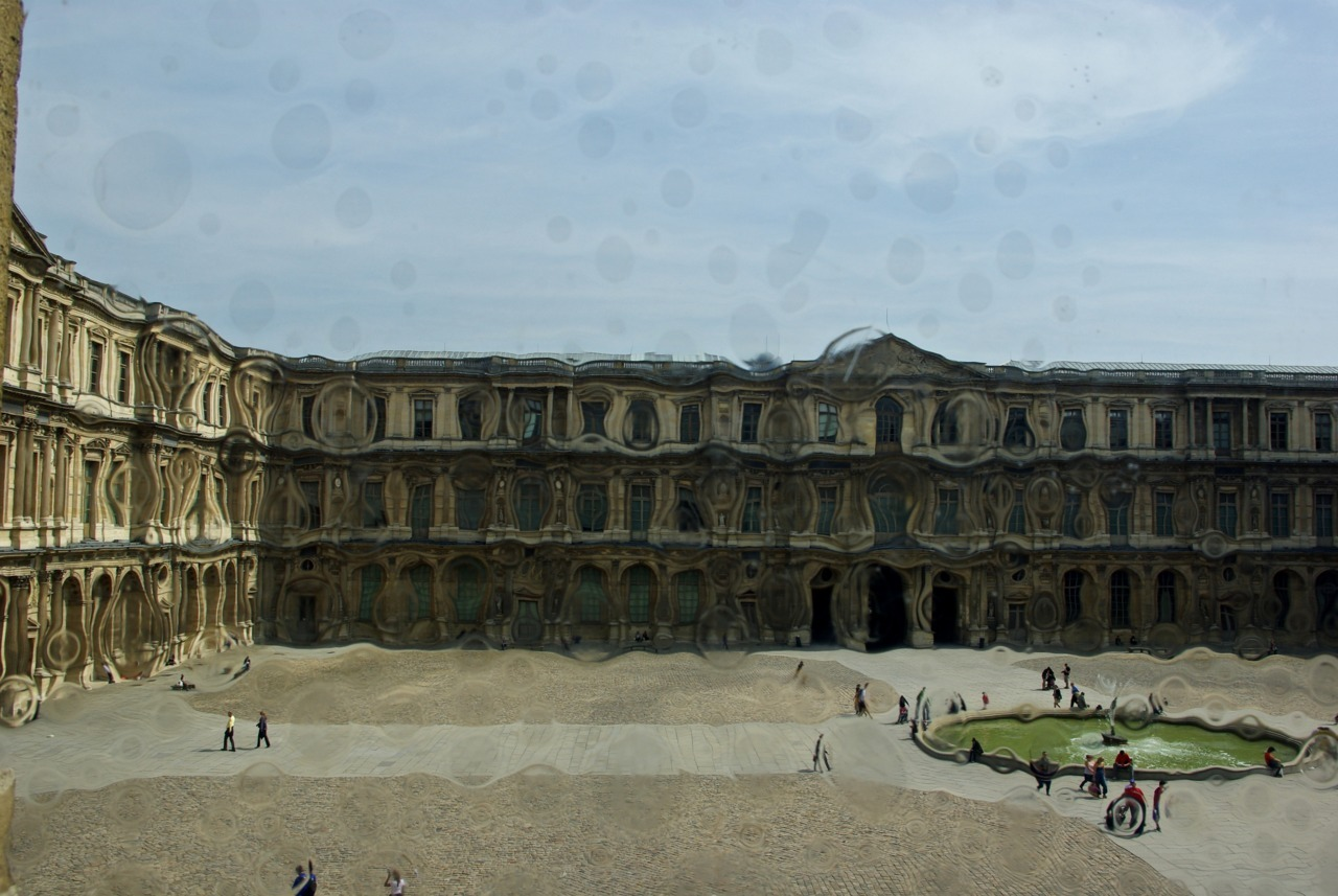 Through a window, Louvre, Paris, France