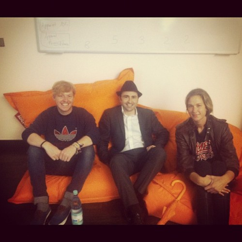 Awesome! Oliver Sadie stopped by the Berlin SoundCloud office to say hello :)   Follow Oliver on SoundCloud and check out his tips on how to grow your SoundCloud Community here!