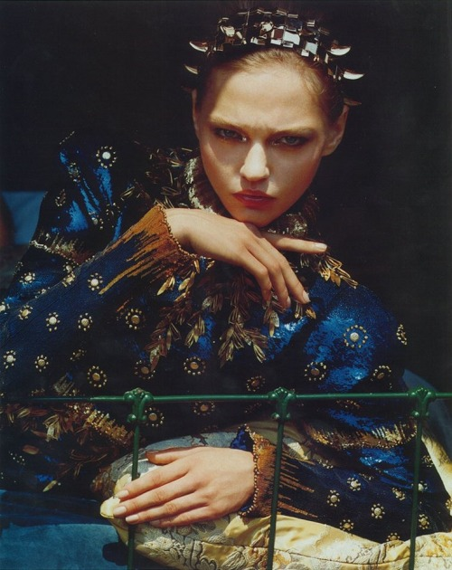 Sasha Pivovarova shot by Alasdair McLellan Vogue Japan - Nov '10