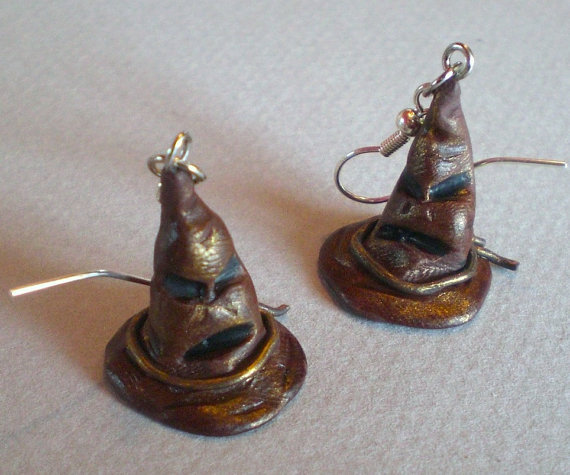 Sorting Hat Earrings by emmivisser on etsy