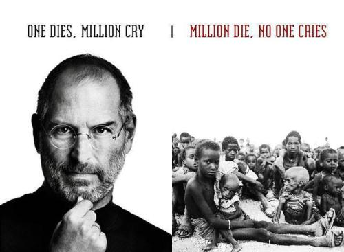 Millions die, no one cries…