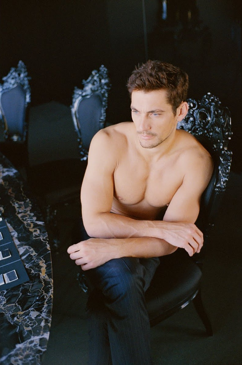 David Gandy by Paolo Zerbini for L'Officiel Hommes, styled by Emil Rebek with hair by Antonello Rossello and makeup by Grazia Riverditi. My David Gandy obsession grows all the more. I can see Mr. Gandy playing Manus Kelly in the movie of 'Invisible Monsters' (my favorite book).
