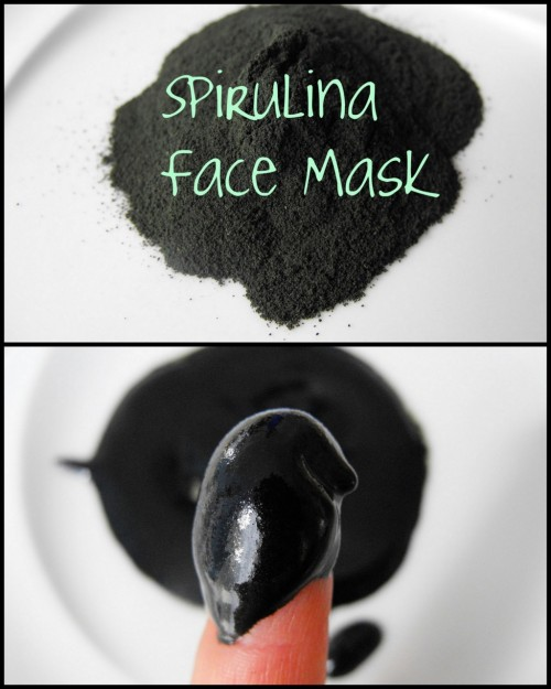 DIY  Spirulina Face Mask (for pennies) based on the $65 Rejuvenating Spirulina Masque by Kerstin Florian. *3 ingredients. Tutorial from the Crafty Little Gnome here. Her background:  As many of you may know I used to be a make up artist and esthetician and worked in some of the fanciest spa's in the Metro Vancouver area.  Although I don't do cosmetology for a living anymore I still love to play around with different products and use the knowledge I learned from working in the industry for myself.  When I worked at one particular day spa we used  Kerstin Florian products and when ever I used the Spirulina Mask on a client they always looked AMAZING afterwards.