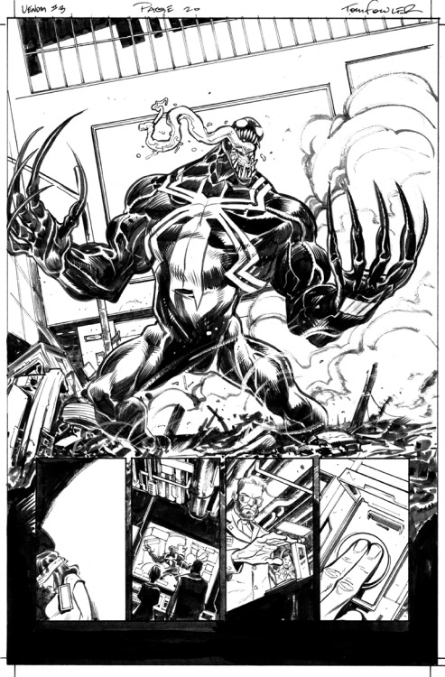 cadencecomicart:  Venom #3 page 20 by Tom Fowler Cadence Comic Art is pleased to announce that we are now the official art sellers for Tom Fowler.  .