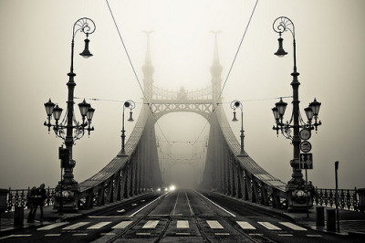 black-and-white:  The Bridge (by arminMarten)
