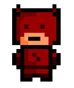 pixelblock:  Daredevil, blind superhero and fairly competent lawyer. Wonder how he manages to change costume without seeing what he is doing…  ,