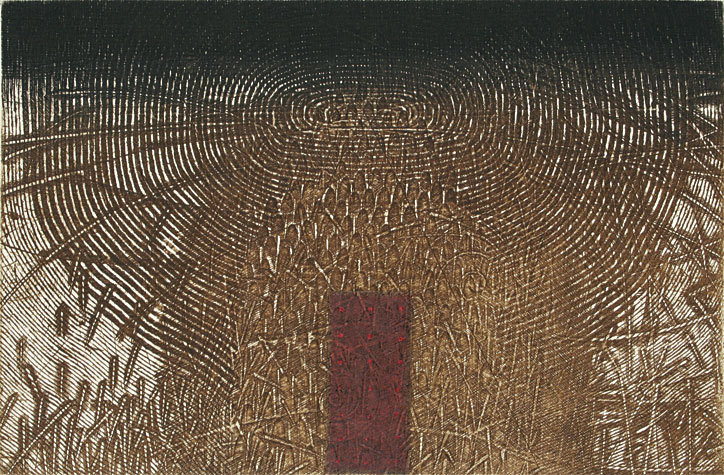 Takahiko Hayashi The Edge - Recording a Life in a Fingertip, 2000. Intaglio. Edition of 50. 7-3/4 x 11-1/2 inches. link