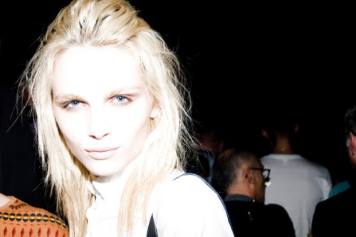 hausofandrejpejic:  Andrej Pejic at Mugler SS12 Paris Fashion Week by cesarsegarra.blogspot.com