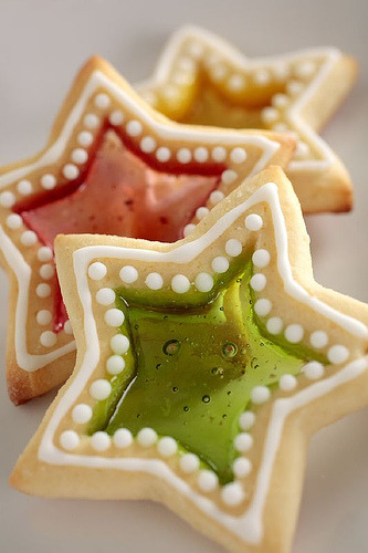 Stained Glass Star Christmas Cookies (by Dreemkäggs)