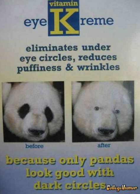 Panda Eye Cream We make your dark eye circles go extinct.
