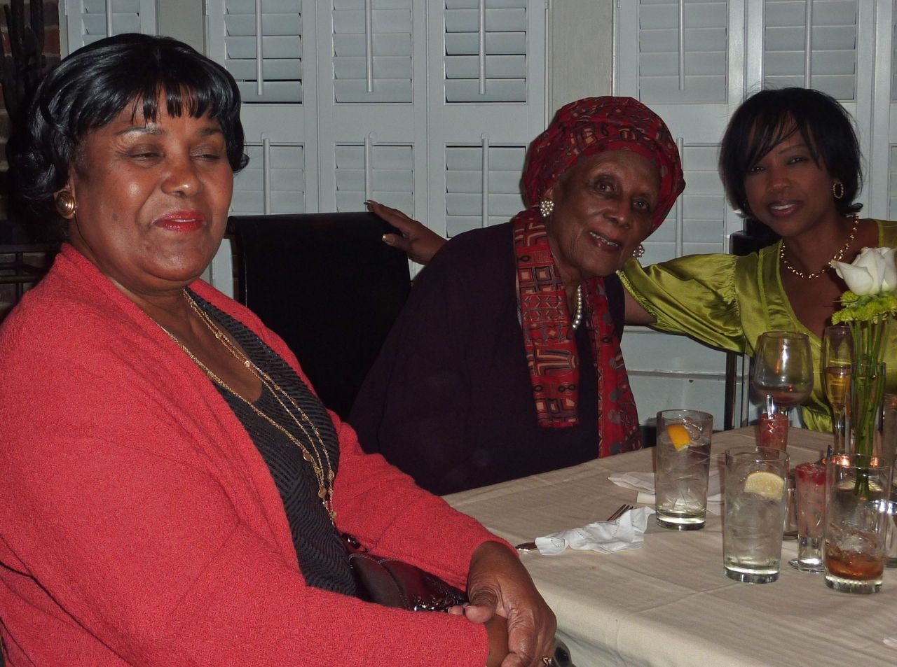WISDOM in the house!  Grandmother Tunstall and Grandmother Womack with Gwen, MOG.