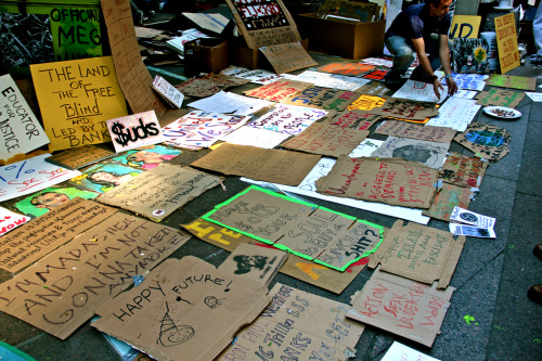 """Have You $old Your Soul To Buy A Bunch Of Shit?"" - Occupy Wall Street Signs"