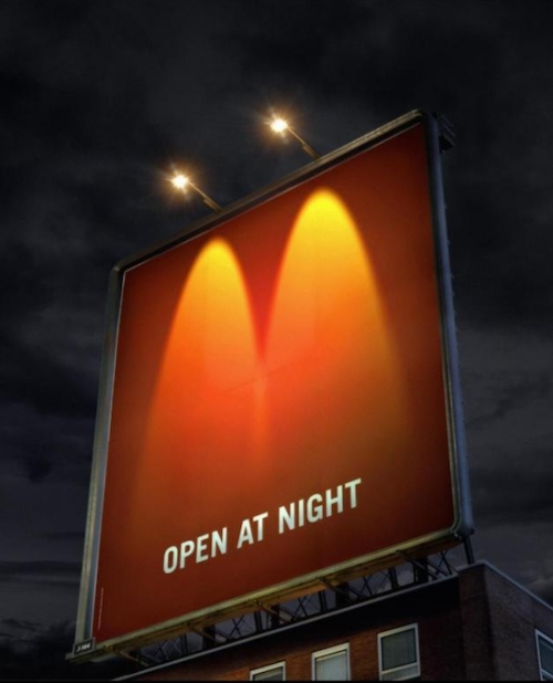 McDonalds 'Open At Night' Billboard