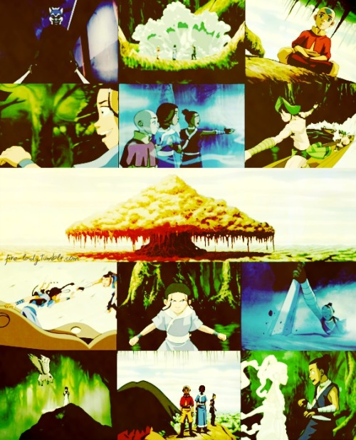 "fire-lady:  Avatar The Last Airbender ; 2x04 The Swamp ""In the swamp, we see visions of people we've lost, people we've loved, folks we think are gone. But the swamp tells us they're not. We're still connected to 'em. Time is an illusion and so is death."" - Huu"