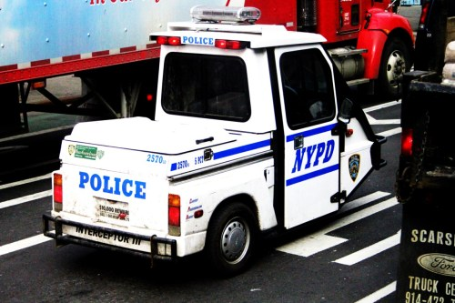 USA, New York. 2011. I don't even know if this was an actual police car or not. If it actually is, then I'm baffled. They must have had some major cuts in the police department.