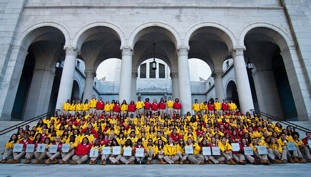 City Year LA's 2011-2012 corps members at Opening Day, October 7th, 2011.  Photo: Elliot Haney