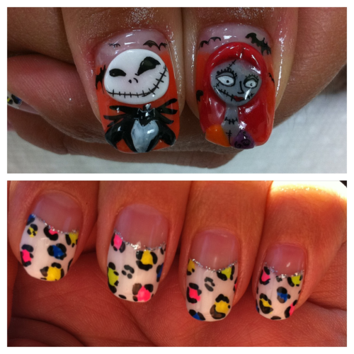 My new Halloween nails! :] idea by @asukamatsumura Nightmare Before Christmas!