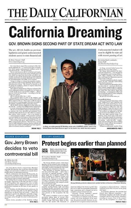 designdesk:  Front Page - Monday, October 10, 2011Ashley Villaneuva/Senior Staff