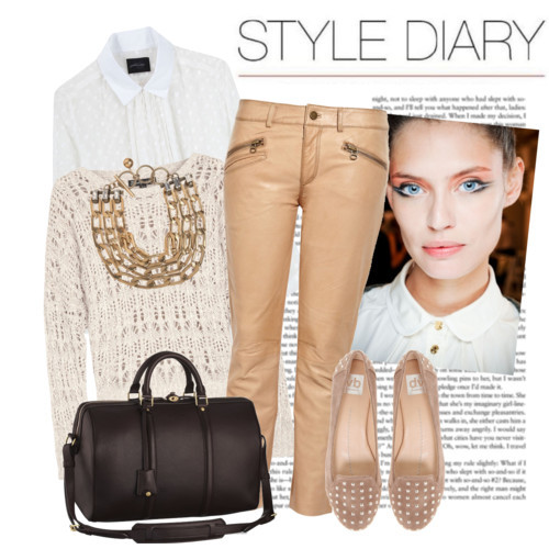 stacked heel cotton shirts louis vuitton handbags button down shirt leather pants gold chain necklace polyvore