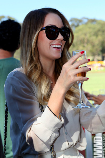 womensweardaily:  Veuve Cliquot's Polo Classic Takes L.A. Lauren Conrad in Paper Crown