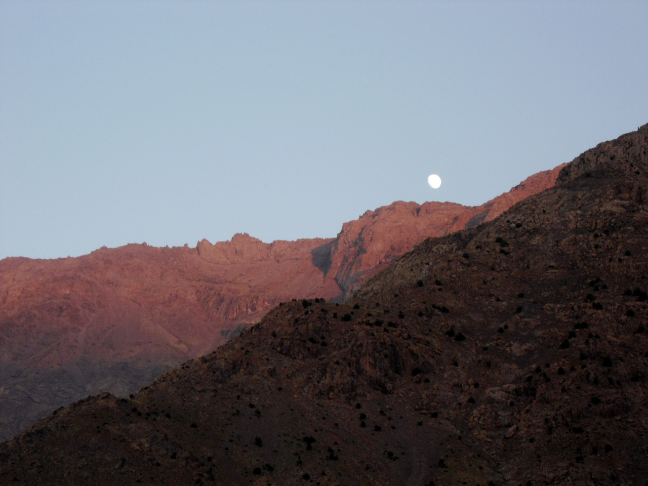 Moon rising over Imlil picture by me, Emilie Futterman