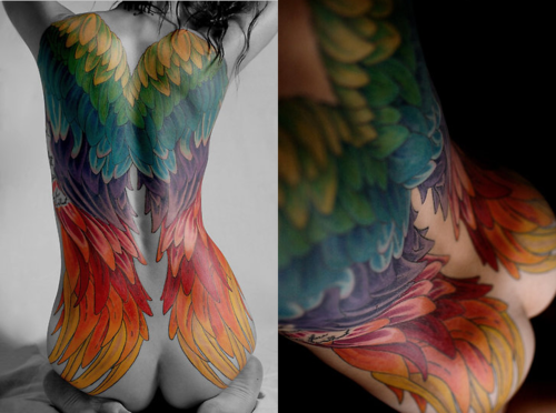 inkarmy:  Rainbow Angel Wings… Follow us and join our INK ARMY!