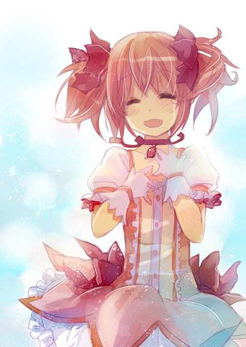 kitenmittons:  this is my favorite madoka picture of all time  BRB crying.