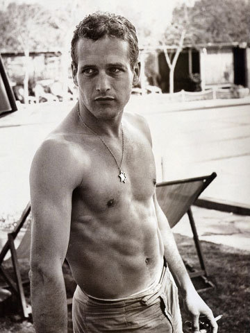 Paul Newman via Male Hotties.