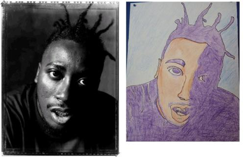 Ol Dirty Bastard Portrait - 2010 Colored Pencils