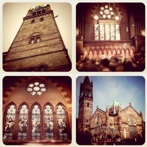 #362.  Our beautiful church, Old South Church in Boston. We can't wait to profess our love for one another and make a commitment to each other in the sight of God, our congregation, our family, and our friends. Over the last year, it has been amazing to grow into and learn about and connect with our faith. We wouldn't have been do this alone, so I thank God for send me Jess to share this journey with. Amen!