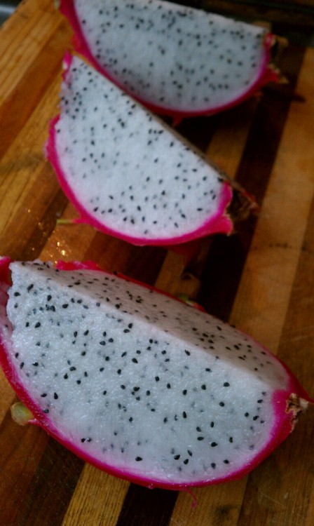 Yummy juicy dragon fruit