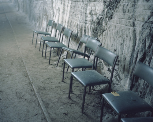 Chairs next to the rail track,        2009, from Speleotherapy Kirill Kuletski
