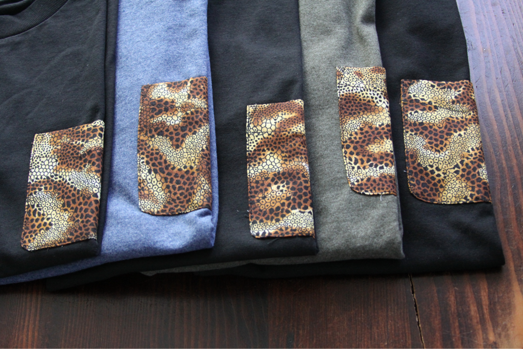 Reptile pocket tee samples…