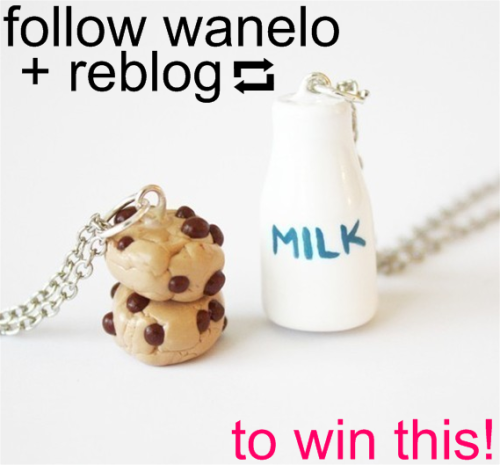 wanelo:Want this super adorable pair of necklaces?How to win:Follow wanelo on tumblr.Reblog this post!I will randomly pick one winner on Monday, October 17th. Good luck! :)- Kristina