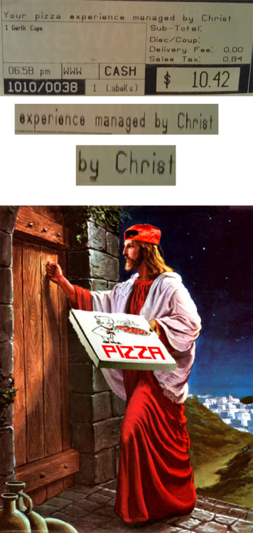 romanticistleader:  My pizza is holy…