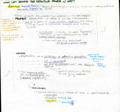 """Just spent the good part of the last 3 hours going through and digitizing the notes I took on Alfred Gell's Art and Agency (An Anthropological Theory).    The anthropology of art is here reformulated as the anthropology of a category of action: Gell shows how art objects embody complex intentionalities and mediate social agency.""""   As an artist constantly trying to define myself as su"""